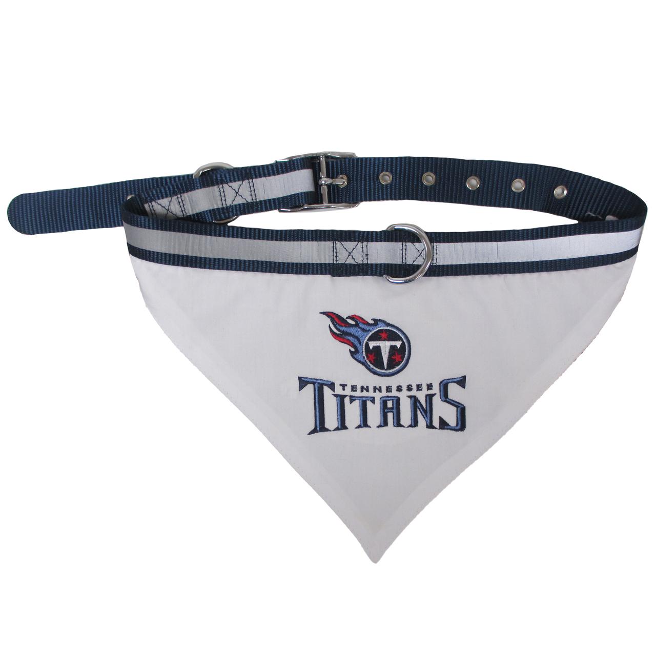 Hot Dog Tennessee Titans Bandana Dog Collar