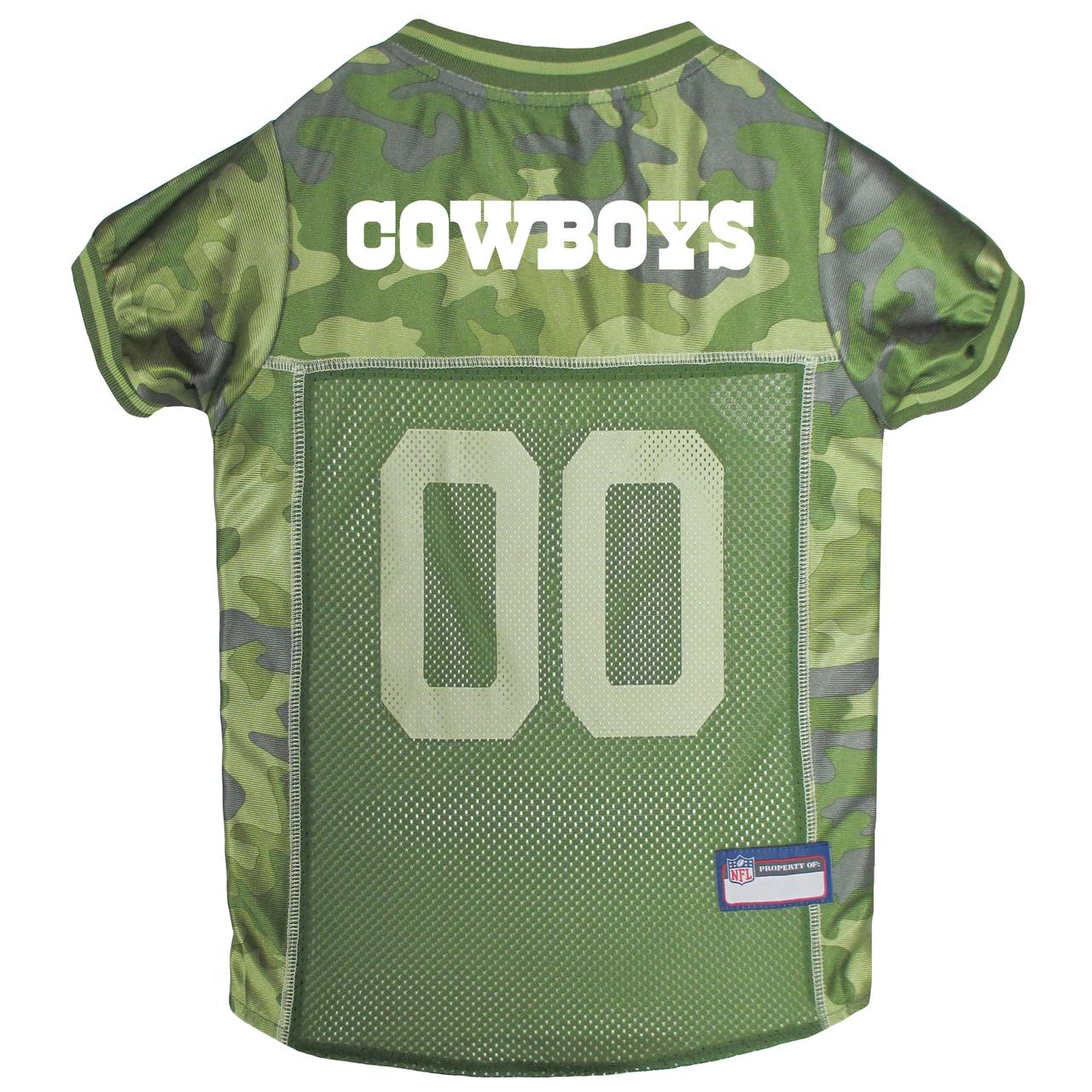 Hot Dog Dallas Cowboys NFL Football Camo Pet/ Dog Jersey