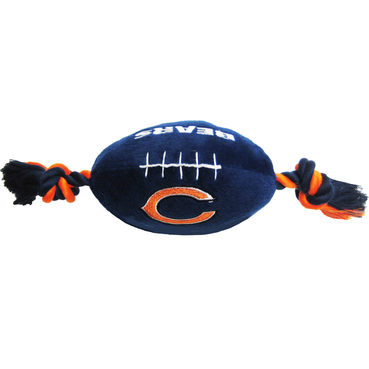 "First Chicago Bears Plush Football Rope Dog Toy,10"" x 4"",Each,CHI-3033 CHI-3033"