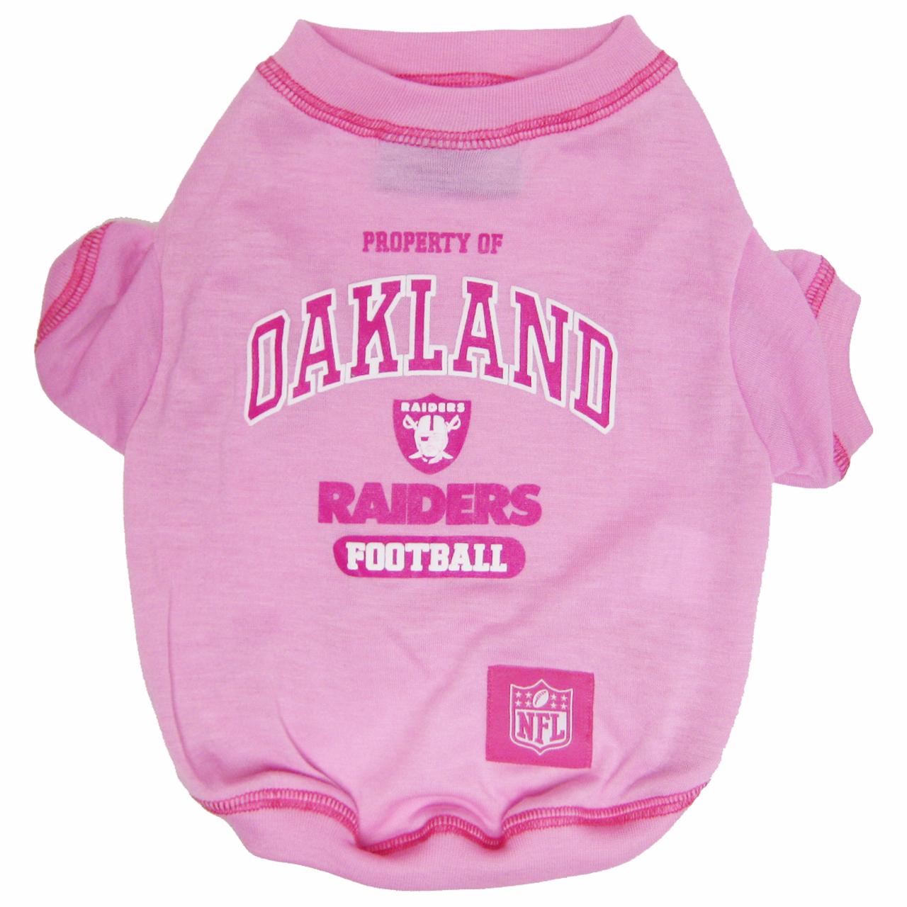 Hot Dog Oakland Raiders NFL Football PINK Pet/ Dog T-Shirt