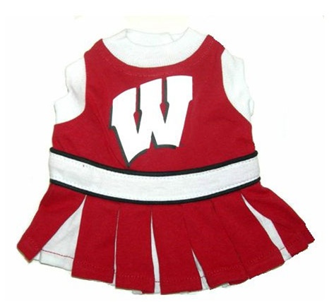 Hot Dog Wisconsin Badgers Dog Cheerleader Outfit