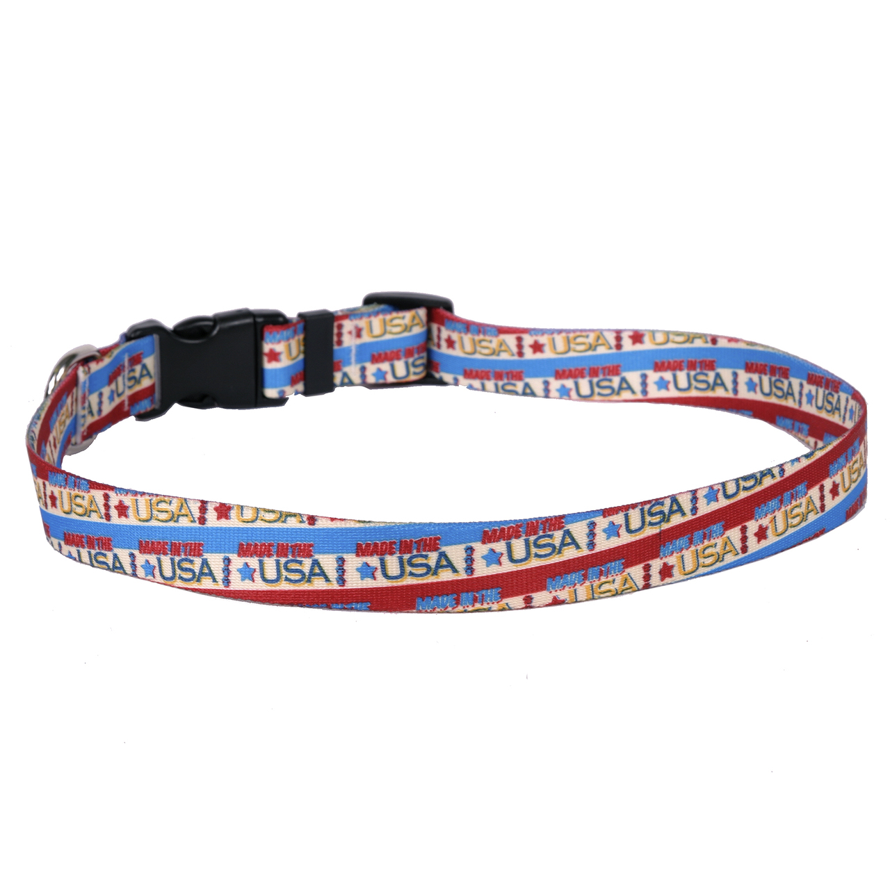 Yellow Dog Vintage Made in the USA Dog Collar with Tag-A-...