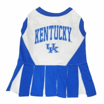 Hot Dog Kentucky Wildcats Dog Cheerleader Outfit