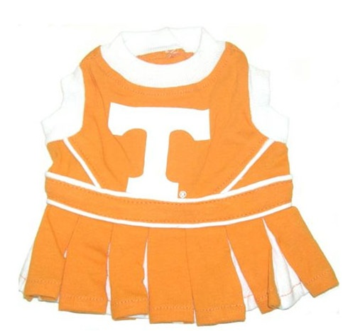 Hot Dog Tennessee Vols Dog Cheerleader Outfit