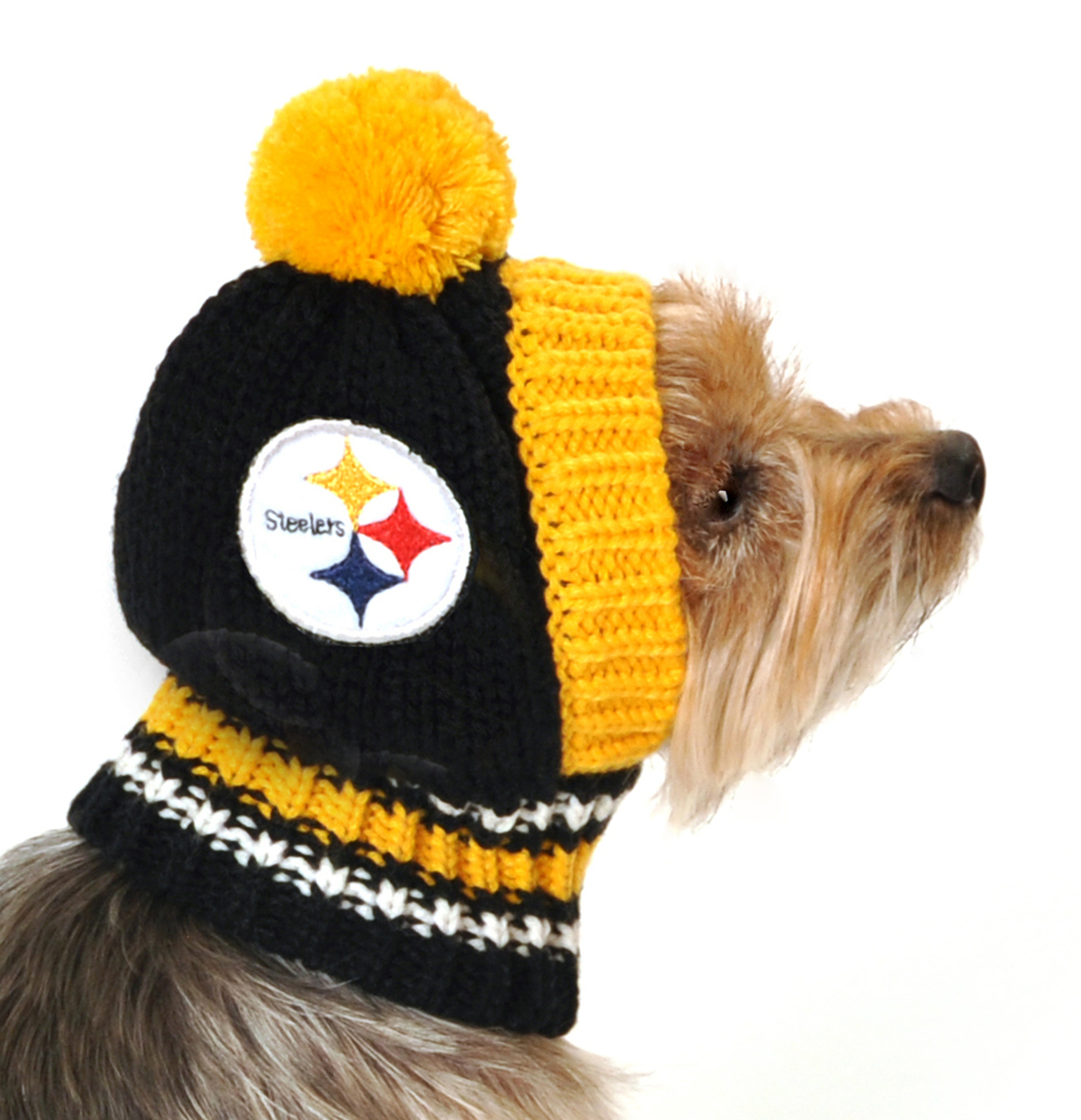 Hot Dog Pittsburgh Steelers NFL Knit Hat For Dogs