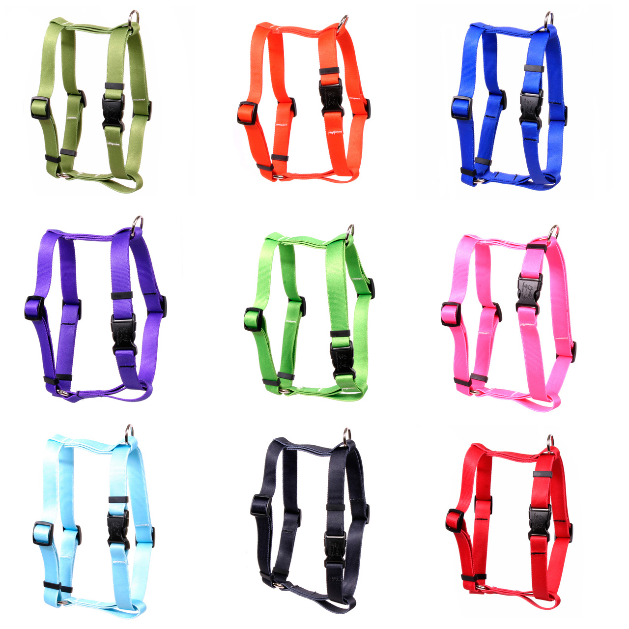 "Yellow Dog Simple Solids Roman ""H"" Dog Harness"