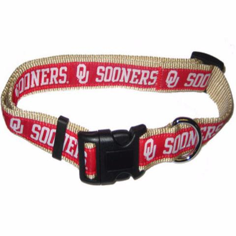 Hot Dog Oklahoma Sooners Dog Collar
