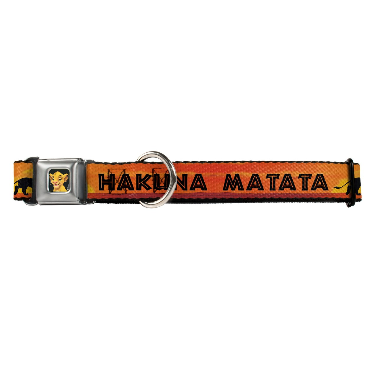 Hot Dog Lion King Hakuna Matata Simba Buckle-Down Seat Belt Buckle Dog Collar