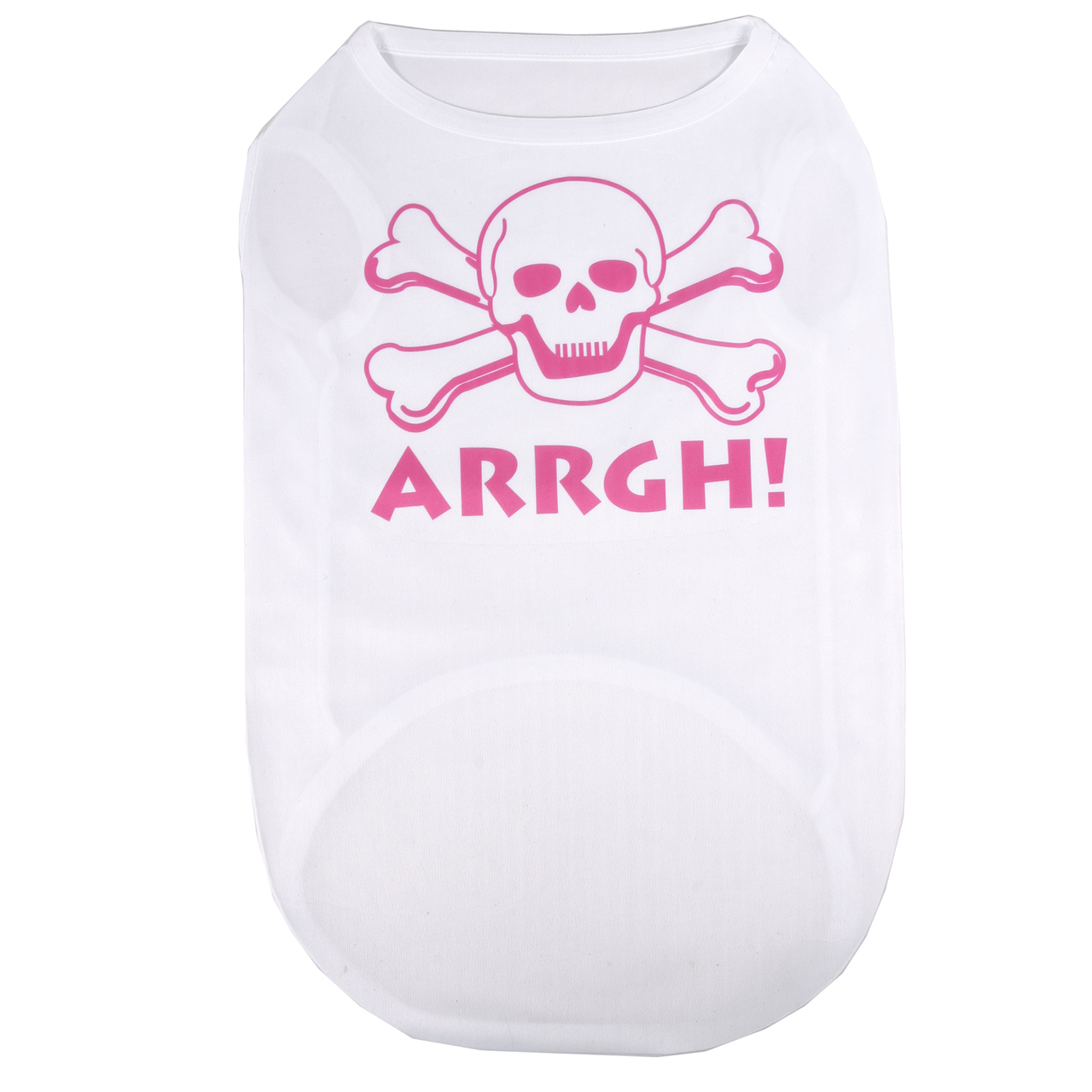 Hot Dog ARRGH Pink Skull Pirate Pet/ Dog T-Shirt