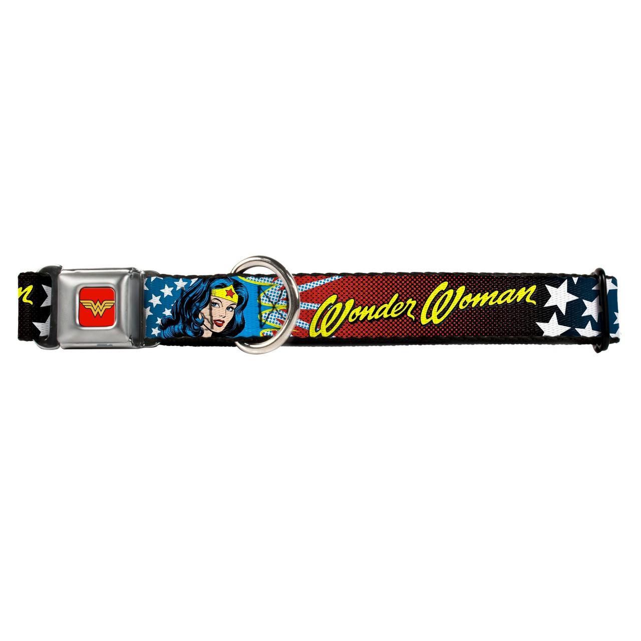 Hot Dog Wonder Woman Buckle-Down Seat Belt Buckle Dog Collar