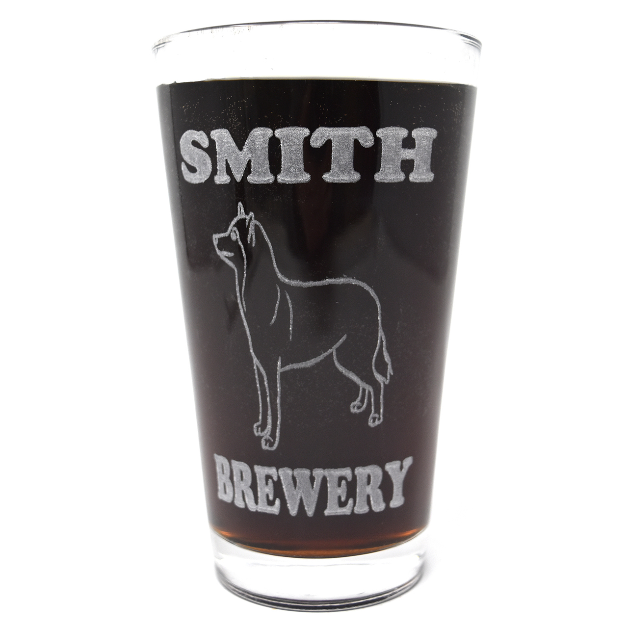 Hot Dog Personalized Pint Glass Beer Mug - Siberian Huskie