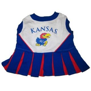 Hot Dog Kansas Jayhawks Dog Cheerleader Outfit