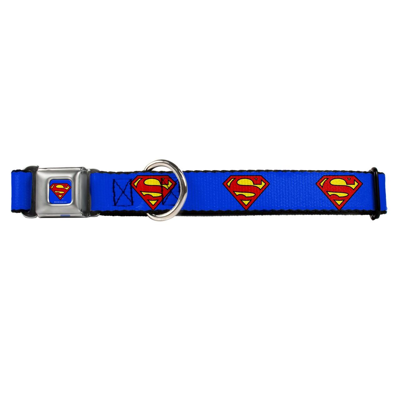 Hot Dog Superman Buckle-Down Seat Belt Buckle Dog Collar