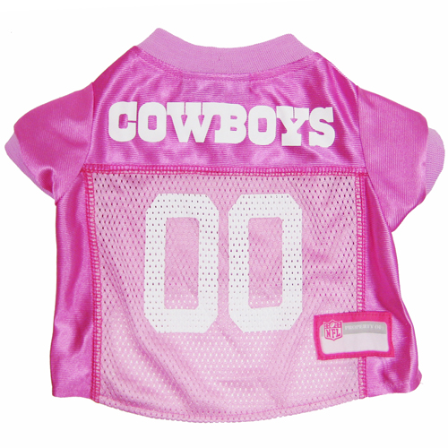 Hot Dog Dallas Cowboys PINK NFL Football Pet/ Dog Jersey