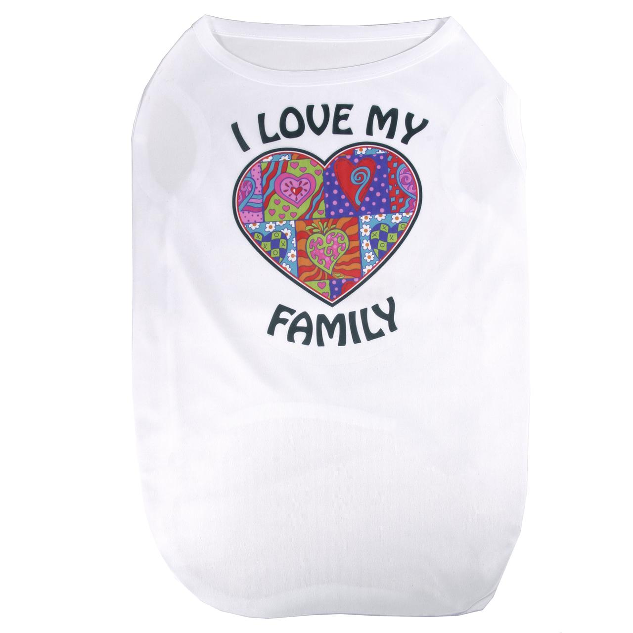 I Love My Family Hearts Pet/ Dog T-Shirt CH-S02