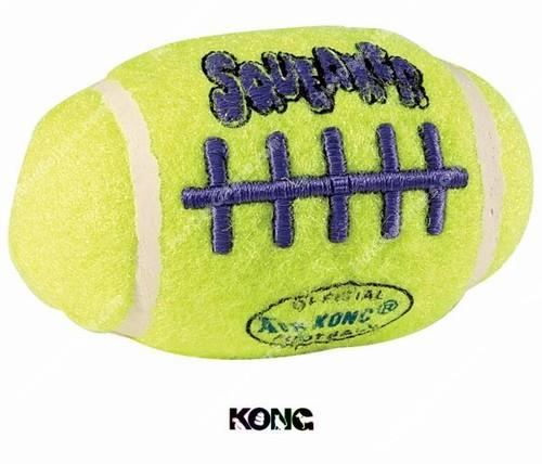 Hot Dog Air Kong Squeaker Football Dog Toy