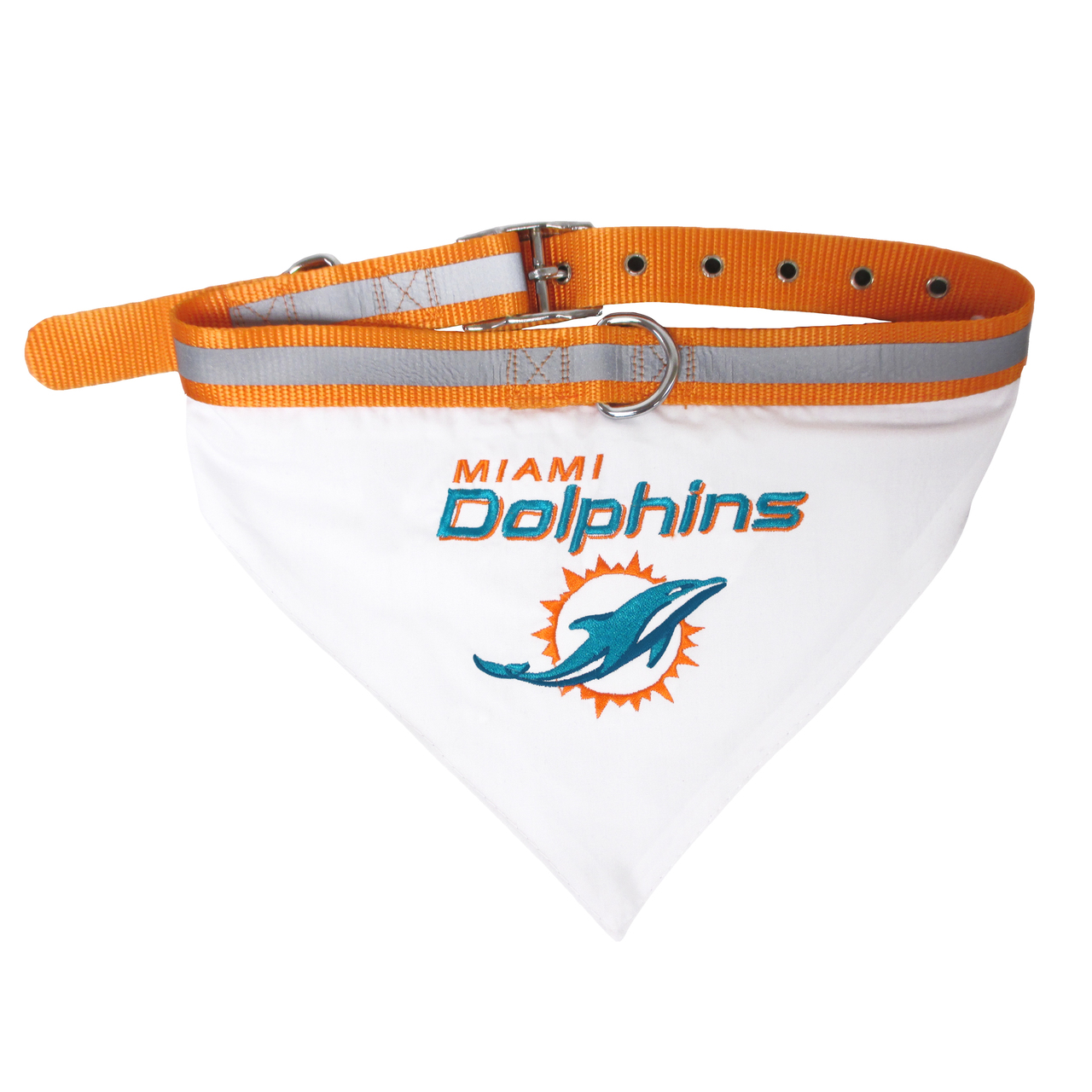 Hot Dog Miami Dolphins Bandana Dog Collar