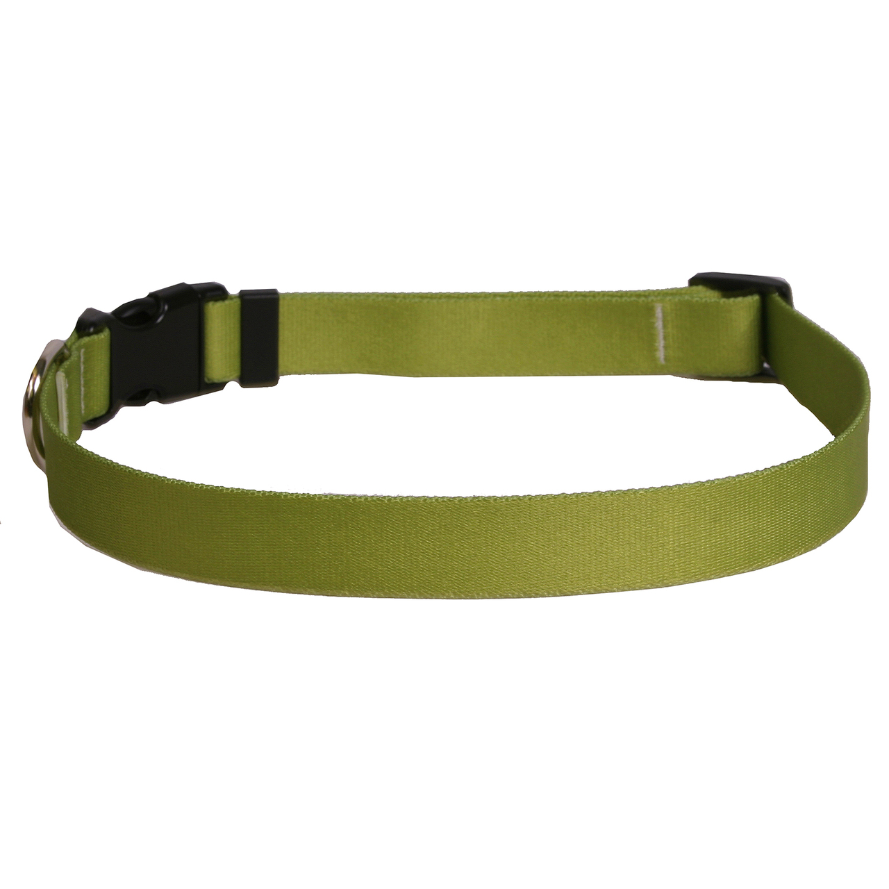 Yellow Dog Solid Olive Dog Collar