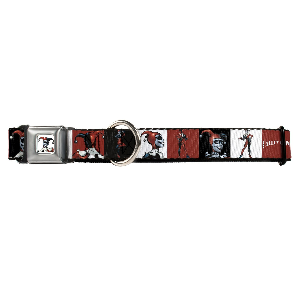 Hot Dog Harley Quinn Buckle-Down Seat Belt Buckle Dog Collar