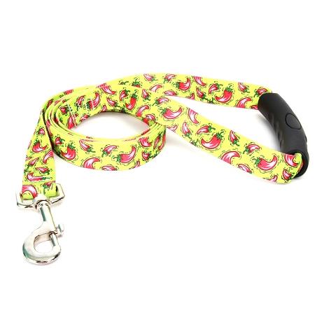 Yellow Dog Hot Peppers EZ-Grip Dog Leash