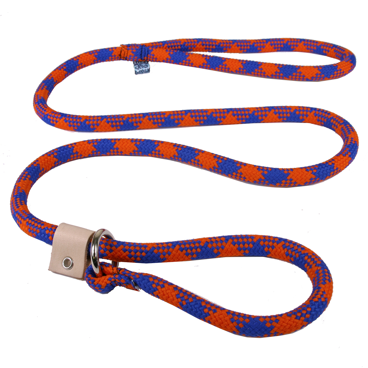 Yellow Dog Blue and Orange Rope Slip Leash For Dogs