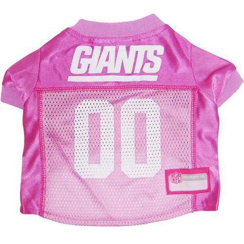 Hot Dog N.Y. Giants PINK NFL Football Pet/ Dog Jersey