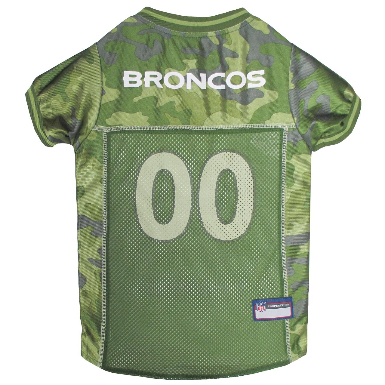 Hot Dog Denver Broncos NFL Football Camo Pet/ Dog Jersey