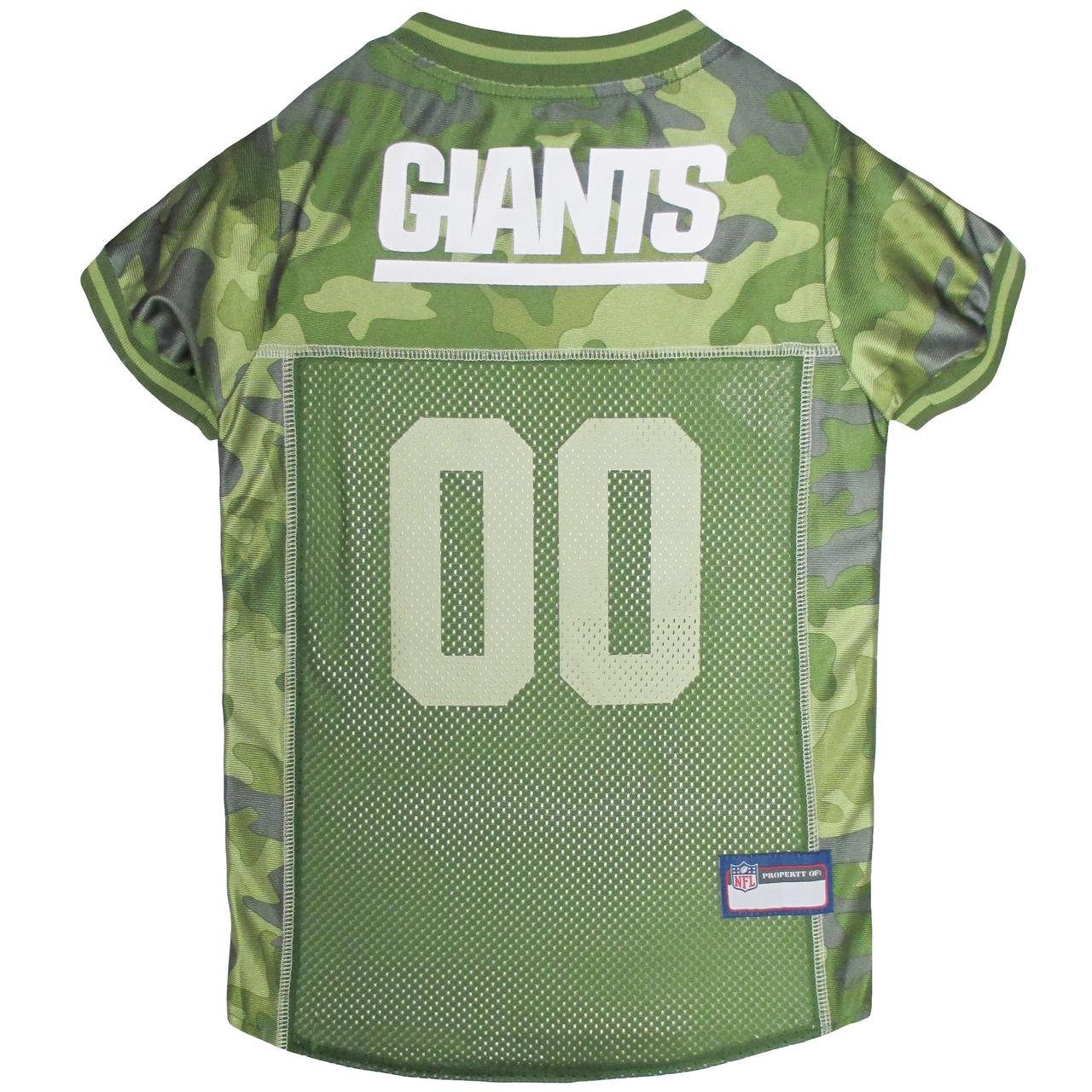 Hot Dog N.Y. Giants NFL Football Camo Pet/ Dog Jersey