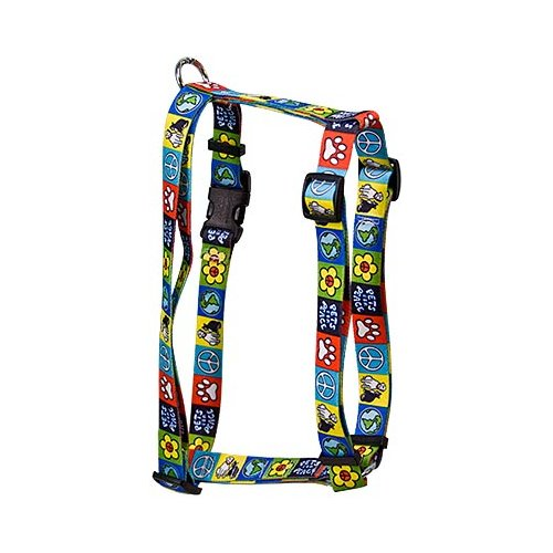 """Yellow Dog Pets for Peace Roman Style """"H"""" Dog Harness"""