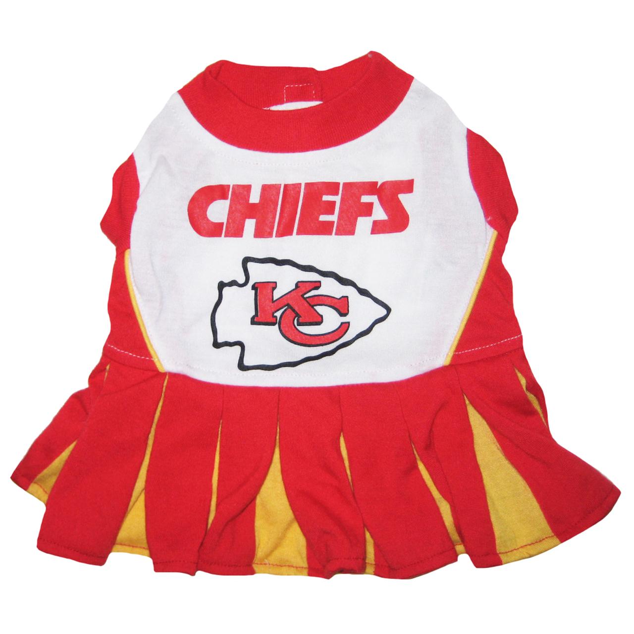 Hot Dog Kansas City Chiefs NFL Football Pet Cheerleader O...