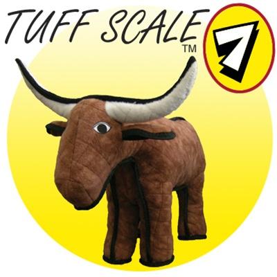 Hot Dog Tuffy's ULTIMATE Dog Toy - Bevo Bull