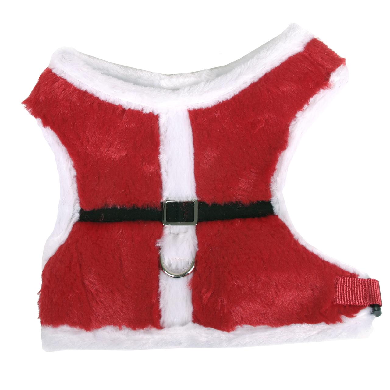 Hot Dog Plush Santa Soft Dog Harness