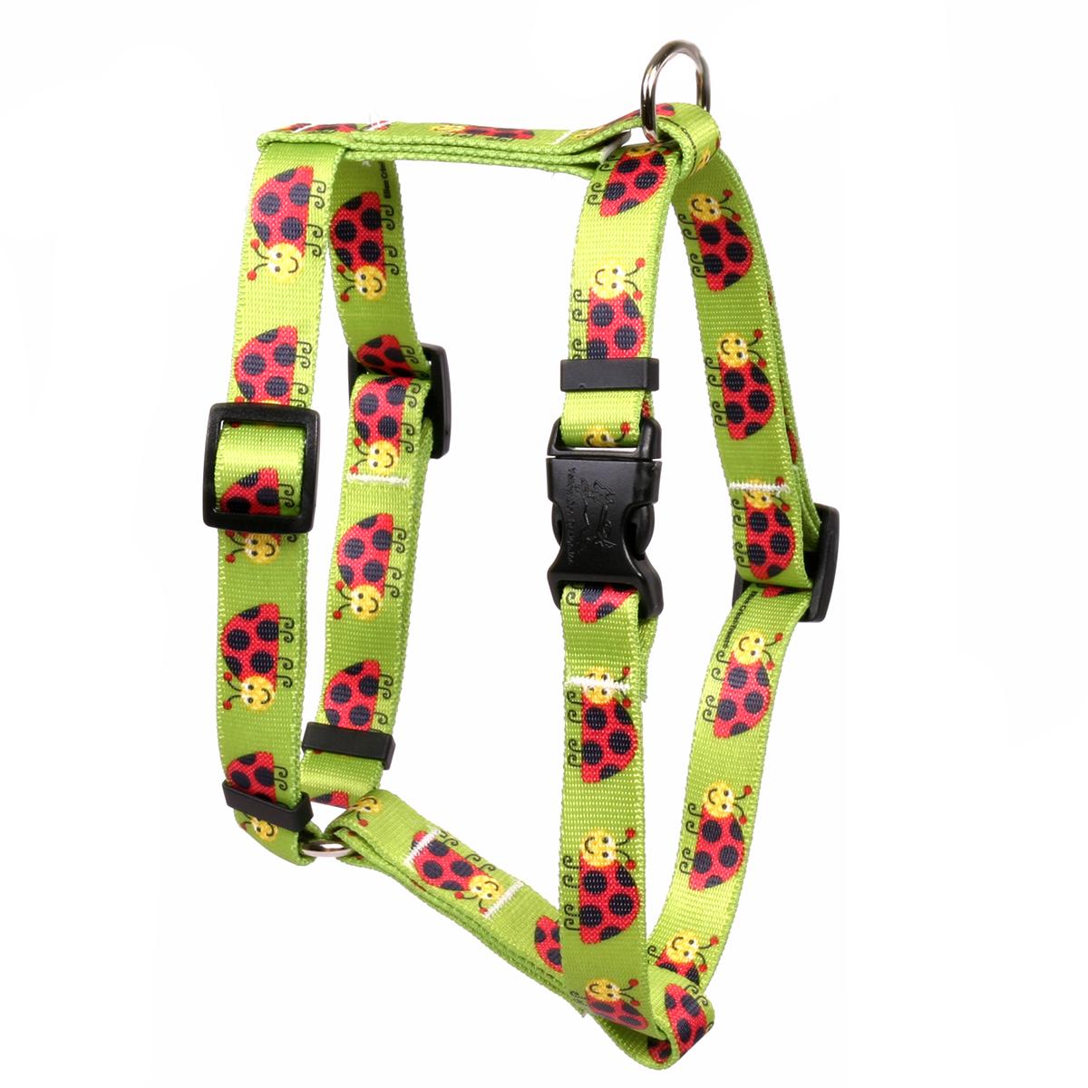 Yellow Dog Lovely Ladybugs Roman Style Dog Harness