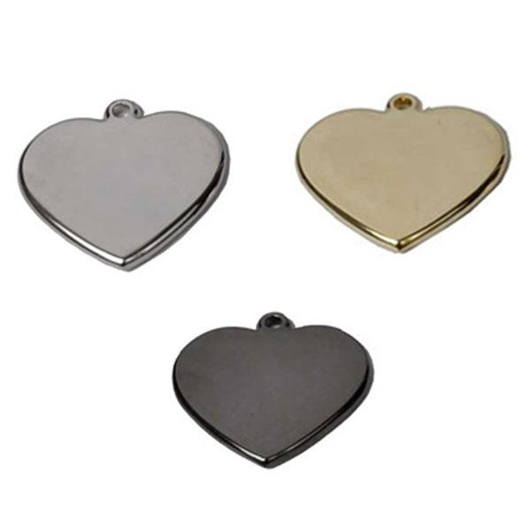 Hot Dog Heart Shape Engraved Pet/ Dog ID Tag