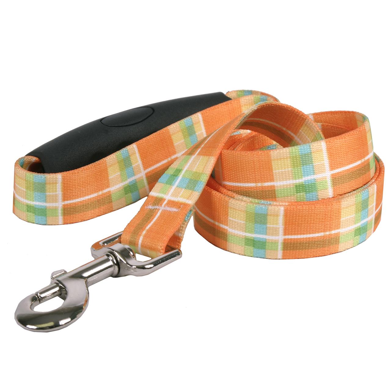 Yellow Dog Southern Dawg Madras Orange Premium Dog Leash
