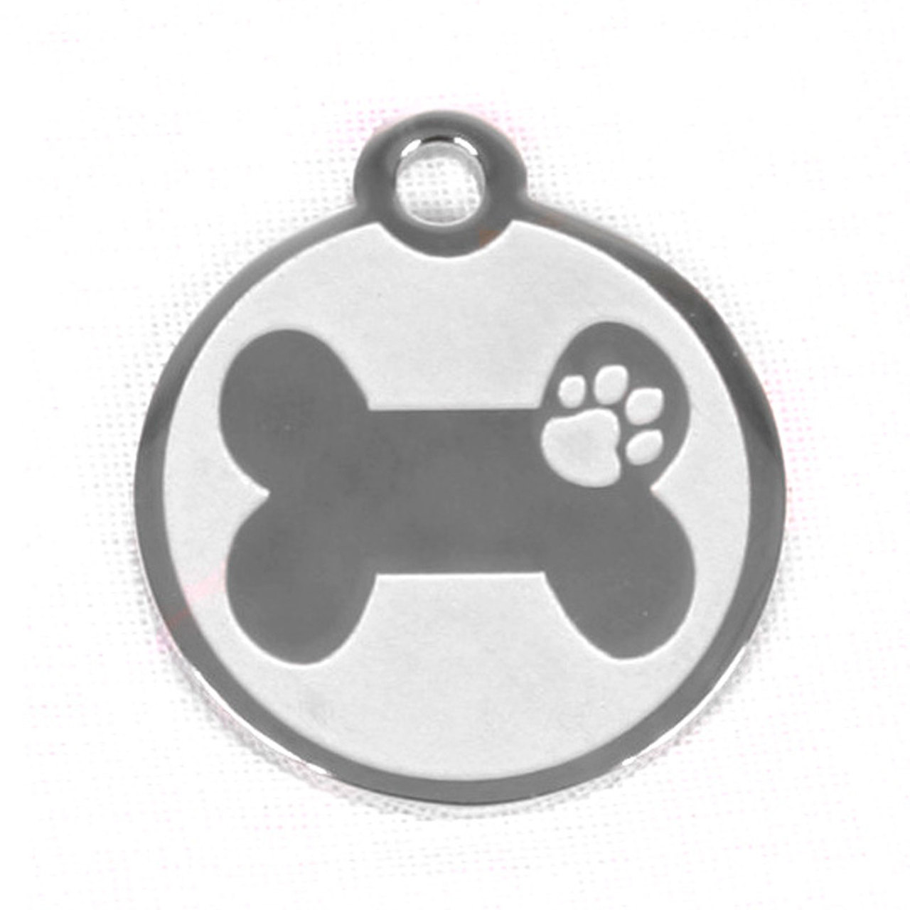 Hot Dog Stainless Steel Bone And Paw Pet/ Dog ID Tag