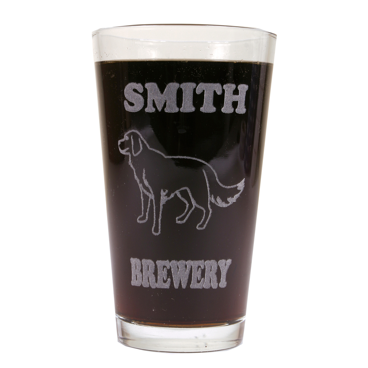 Hot Dog Personalized Pint Glass Beer Mug - Golden Retriever