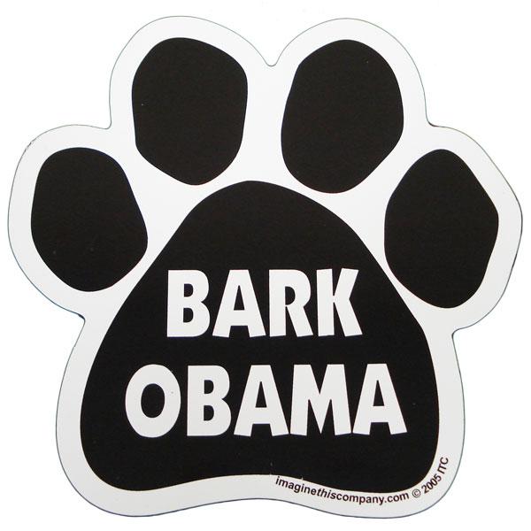 Hot Dog Bark Obama Paw Magnet