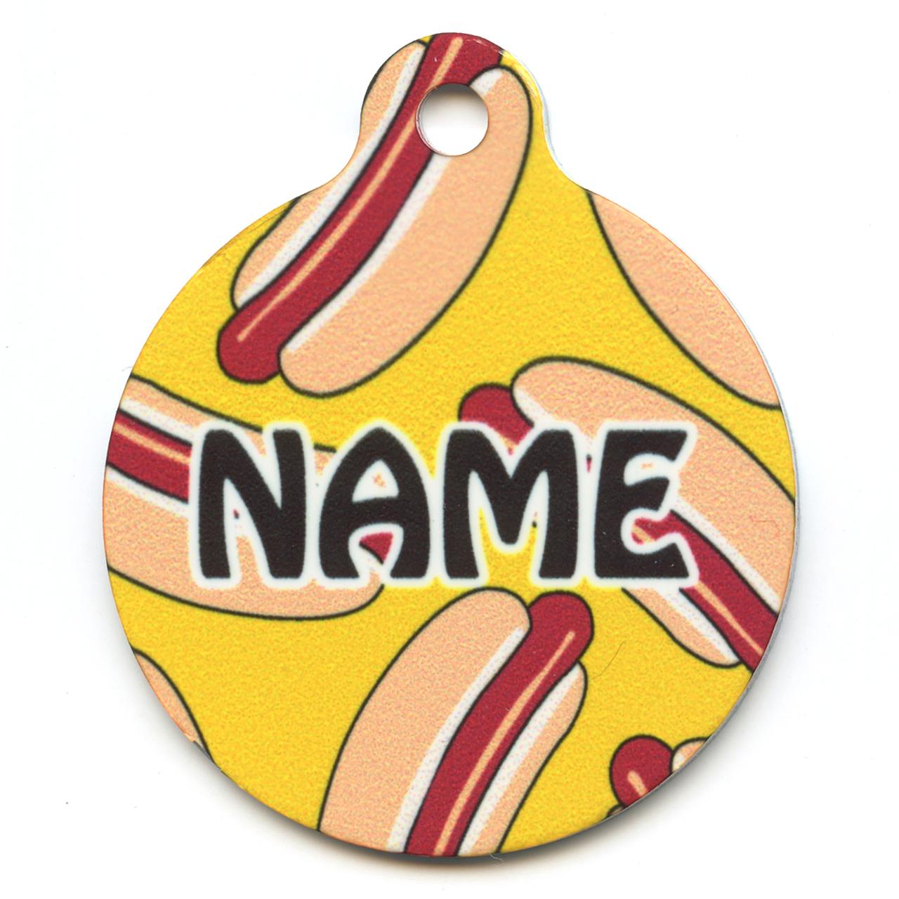 Hot Dog s HD Pet ID Tag
