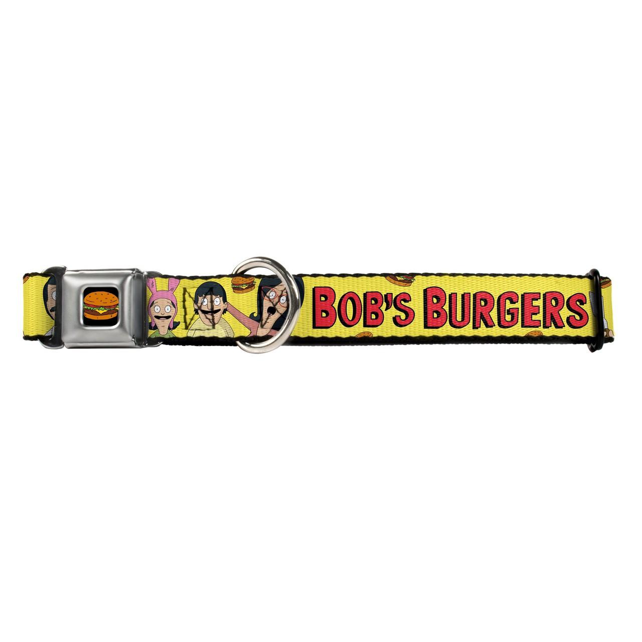 Hot Dog Bobs Burgers Belcher Family Buckle-Down Seat Belt Buckle Dog Collar