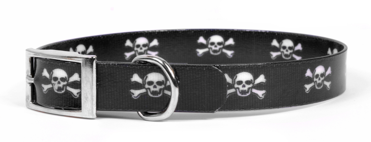 Yellow Dog Skulls Elements Dog Collar