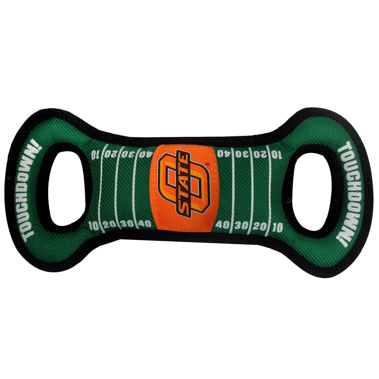 Hot Dog Oklahoma State Football NCAA Field Tug Dog Toy