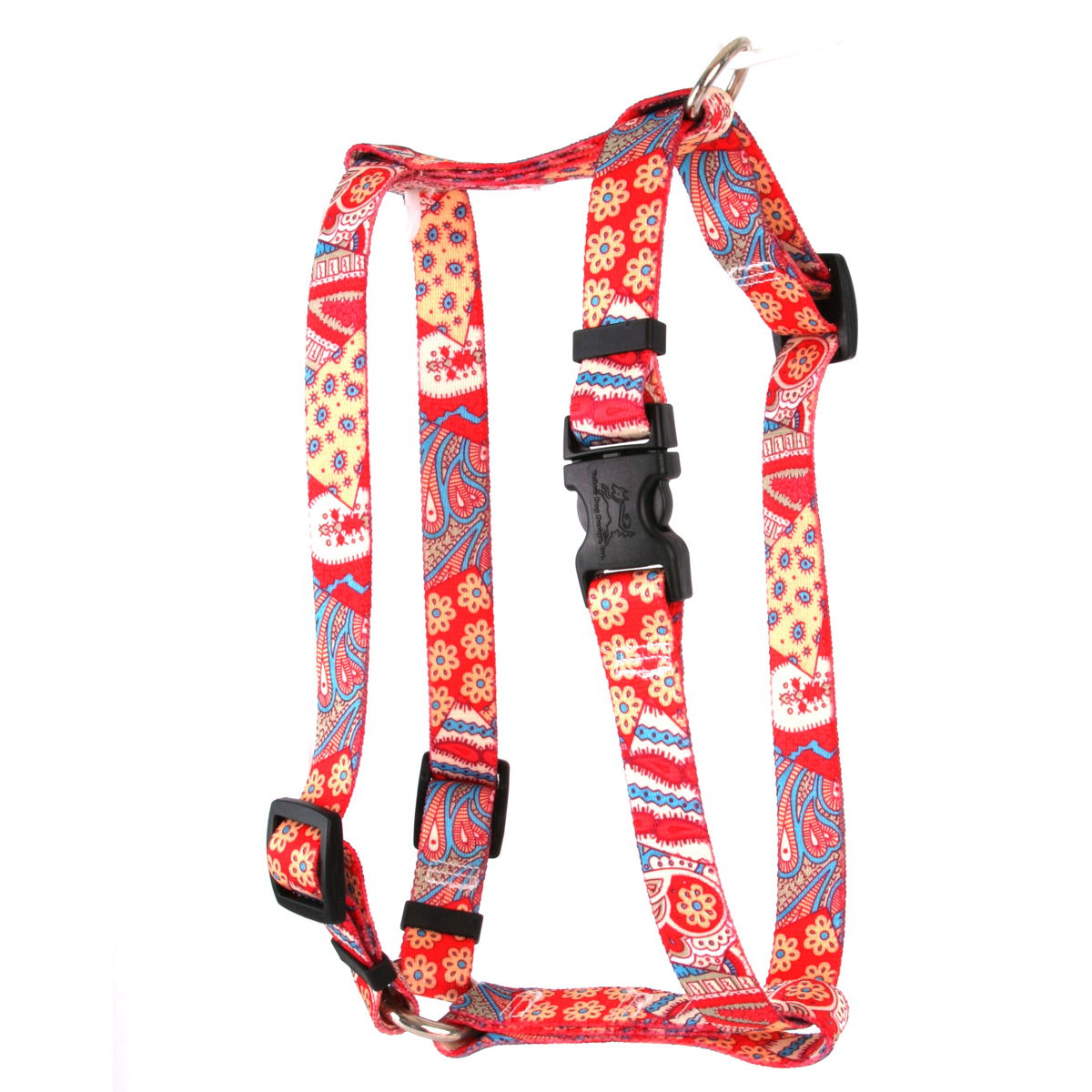 "Yellow Dog Bohemian Patchwork Roman Style ""H"" Dog Harness"
