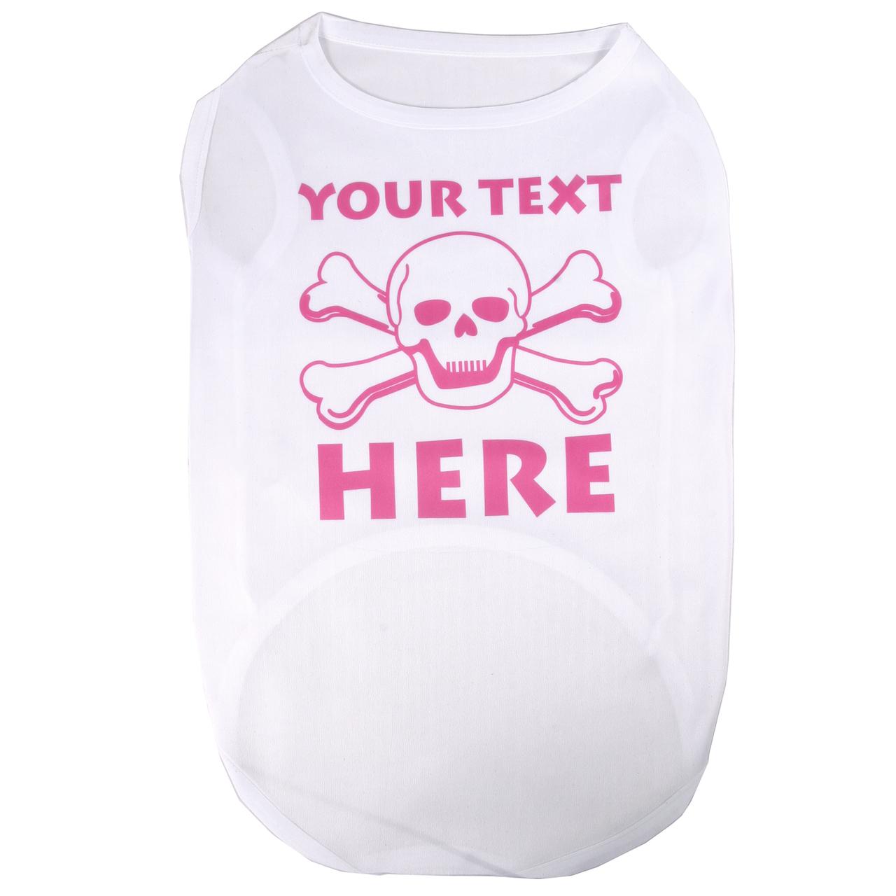 Hot Dog Personalized Pink Skulls Pet/ Dog T-Shirt
