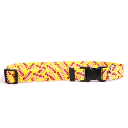 Hot Dogs Dog Collar with Tag-A-Long HOT101