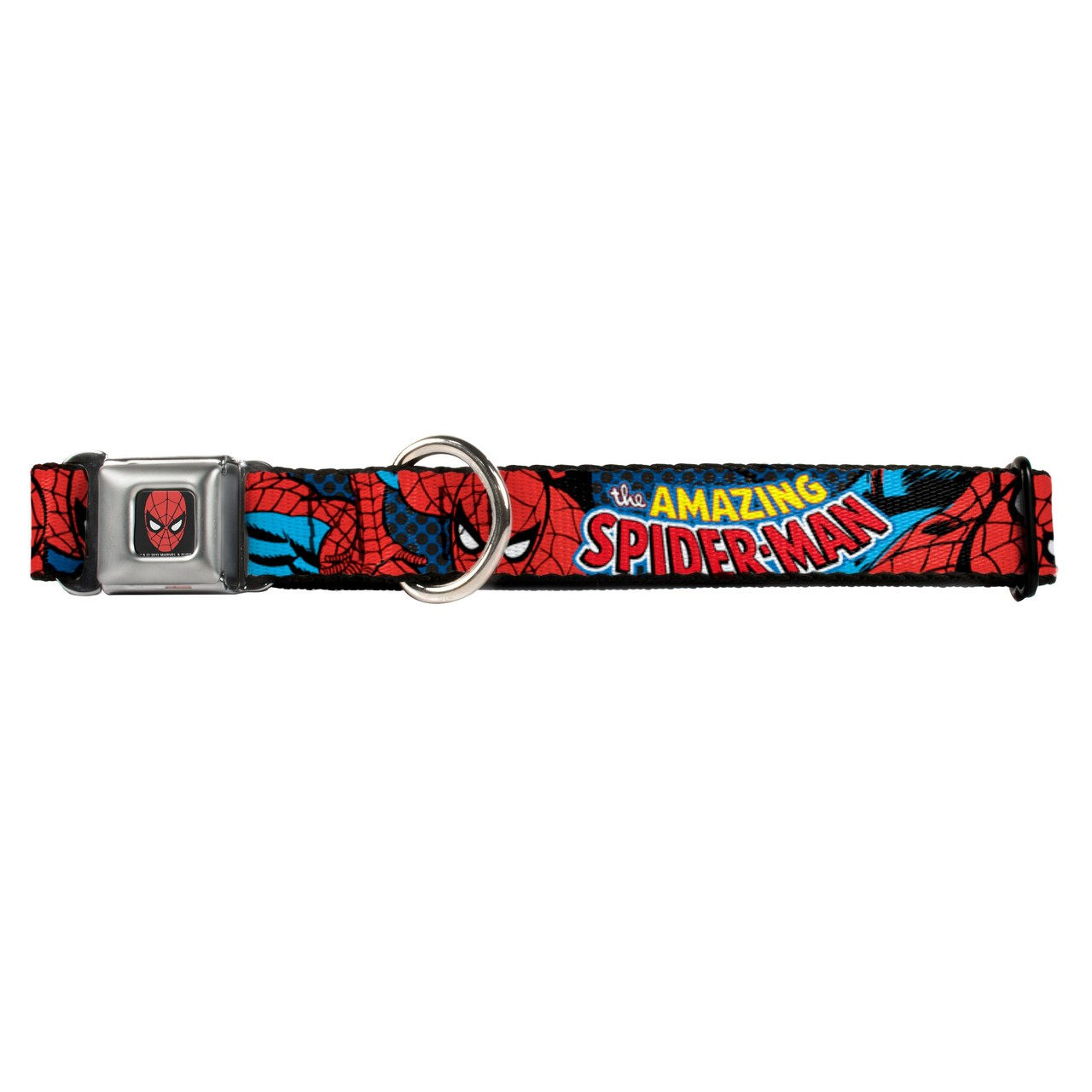 Amazing Spider-Man Buckle-Down Seat Belt Buckle Dog Collar 8402-1