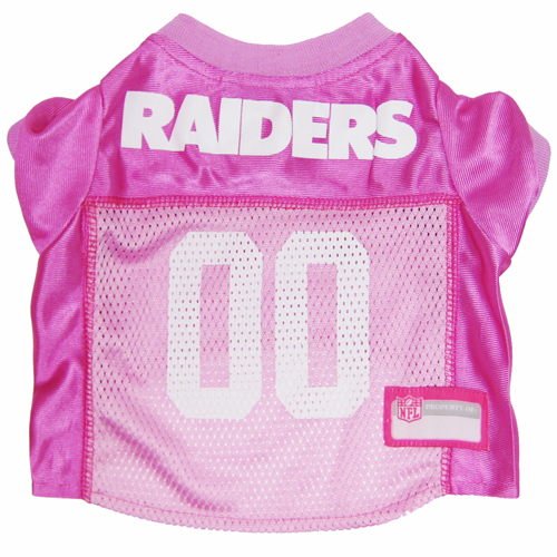 Hot Dog Oakland Raiders PINK NFL Football Pet/ Dog Jersey