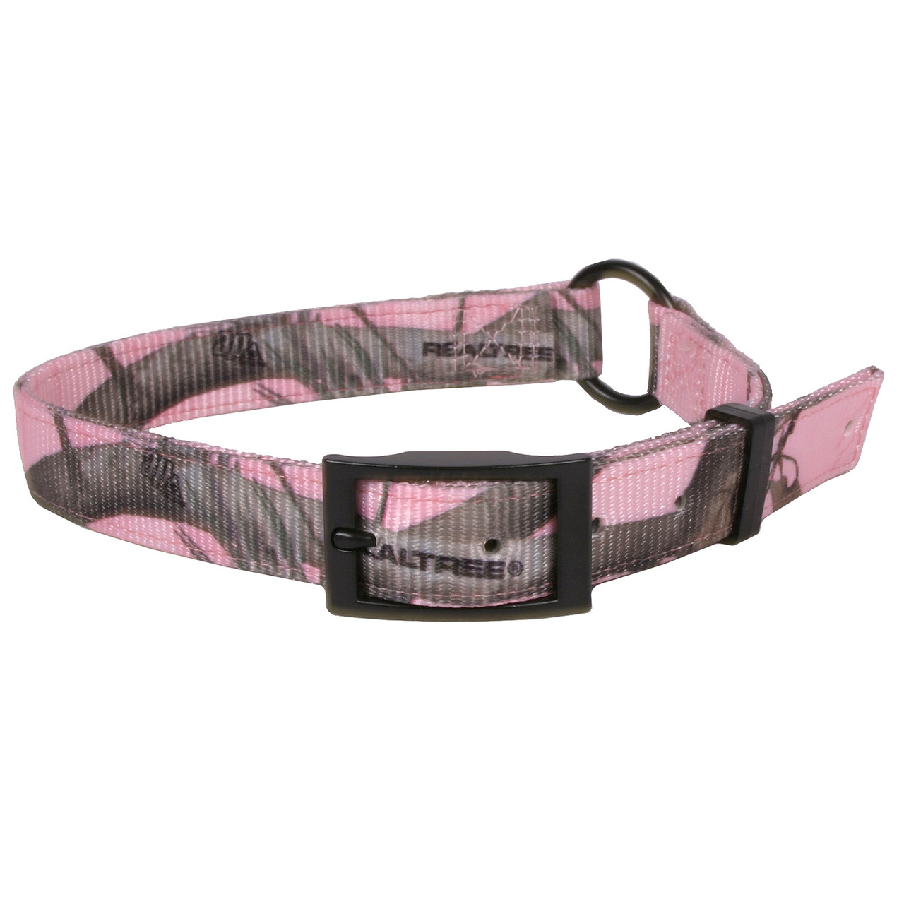 Hot Dog Real Tree Pink Camouflage Buckle Dog Collar