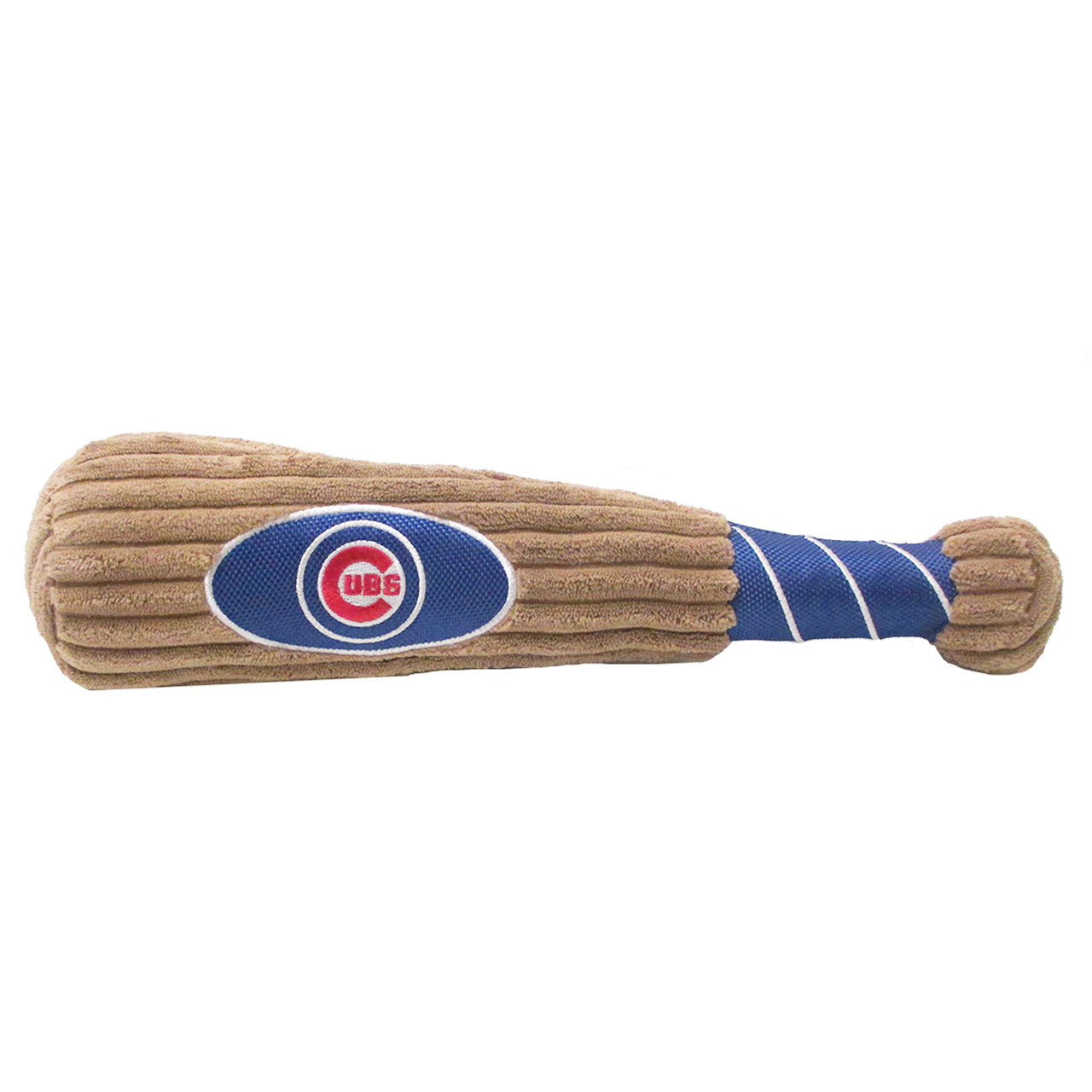 Pets First Chicago Cubs Baseball Bat Squeaker Dog Toy