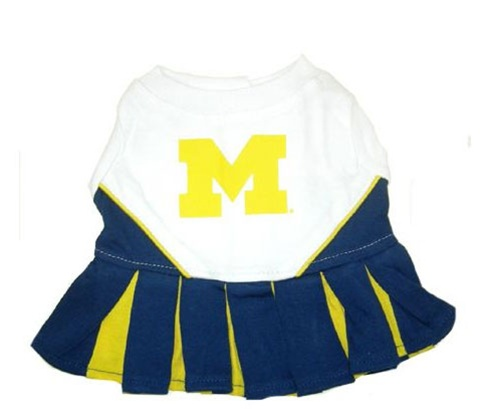 Hot Dog Michigan Wolverines Dog Cheerleader Outfit